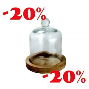 Cupola Vetro Base Legno -20%