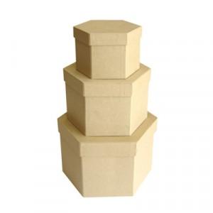 Scatole cartone Esagonale  Set 3 Pz