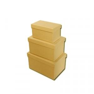 Scatola Cartone Rettangolare Set 3 Pz   Mis.max cm 18 x 12 x 11