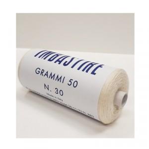 Filo imbastire Bianco 50gr - scatola da 10 rotoli