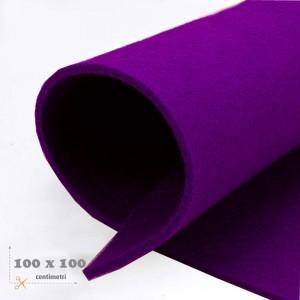 Feltro viola mm 3 -  3 fogli da cm 100x100