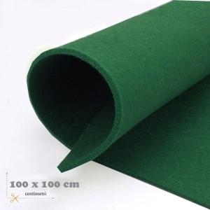 Feltro verde scuro mm 3 -  3 fogli da cm 100x100