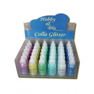 Colla  Glitter Iris Espositore da 36 pz