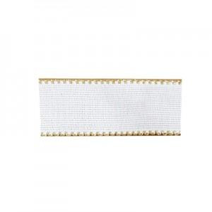 Nastro tela Aida con bordo oro 3 cm