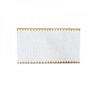 Nastro tela Aida con bordo oro 5 cm