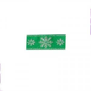Nastro Natale con fiocchi neve mm 30 - rotolo 10 mt