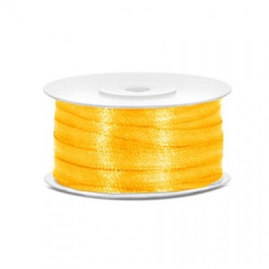 Nastro Raso Economico Giallo sole 6 mm - rotolo 100 mt