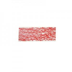 Nastro Rete  Rosso mm 30 - rotolo 50 mt