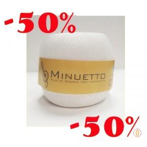 Minuetto n.25  Bianco 100gr  scatola da 4 pz SCONTO 50%