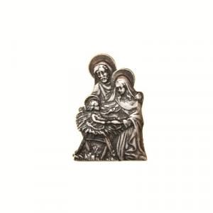 Piastra Natività metallo  cm 4.2x6.5
