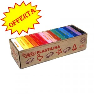 Scatola Assortita 15 Panetti Plastilina Colorata da 350 gr