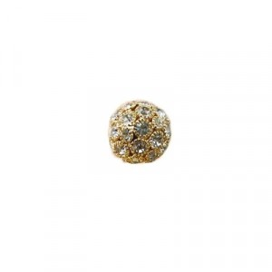 Pallina  Strass oro mm 18