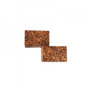 Rettangoli sughero effetto graniglia 25x40mm spessore 8mm conf. 8 pz