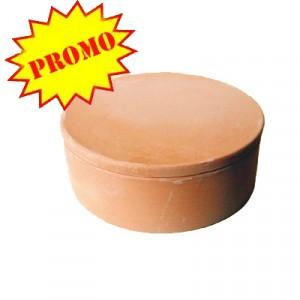 Scatola ceramica - Diam. cm 17.5 - H 4.5*