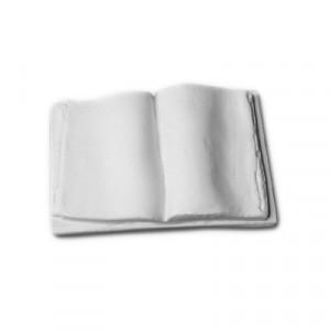 Libro aperto  - gesso ceramico bianco - cm  8 x  5