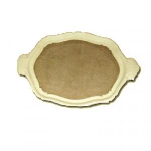 Vassoio in Pasta di Legno lavorato cm 45x30