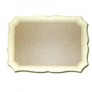 Vassoio in Pasta di Legno rettangolare cm 47x33
