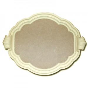 Vassoio in pasta di legno Nuvola cm 45x35