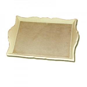 Vassoio in pasta di legno rettangolare cm 39x27