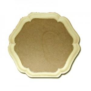 Vassoio in Pasta di legno a Fiore cm 34x34