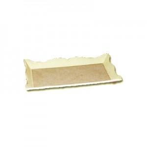 Vassoio in Pasta di legno piccolo cm 11x23