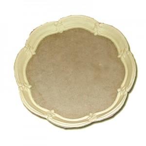 Vassoio in Pasta di Legno tondo smerlato cm 33