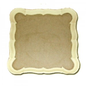 Vassoio in Pasta di legno quadrato cm 30x30