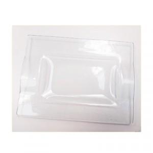 Vassoio Vetro Satinato cm 23x17 - confezione 6pz
