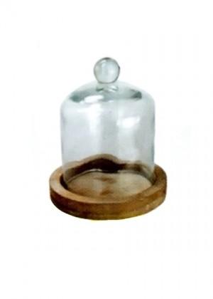 Cupola Vetro Base Legno -50%